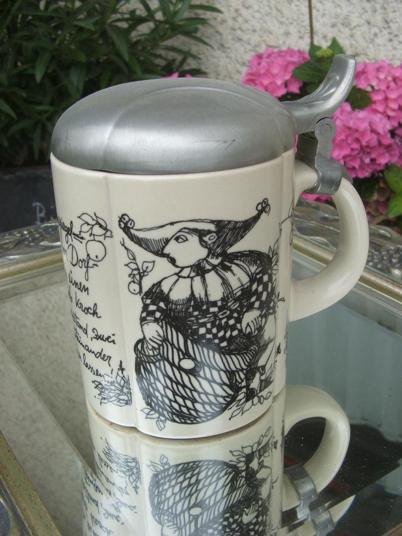 Foto Premio Bierkrug mit Cala Ratjada Motiv und eigenem Namen Humpen aus Keramik, mit personalisierbarem Motiv, sp/ülmaschinenfest, individuell gestalten, wei/ß